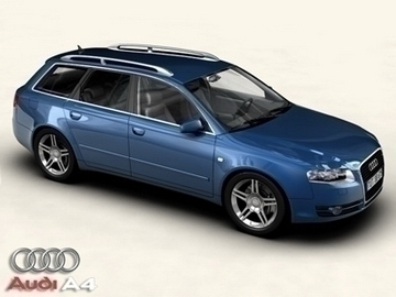 audi a4 avant 2005 3d model 3ds maks obj 81473
