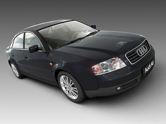 audi a6 – number 2 3d model 3ds max fbx obj 124413