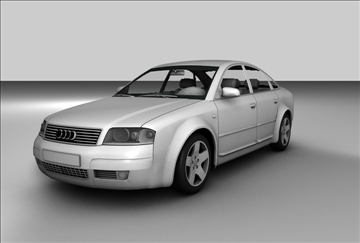 audi a6 sedan 3d model 3ds c4d tekstura 109136