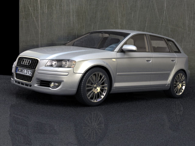 Audi A Sportback D Model Sedan Super Ds Max Fbx Obj AR VR - Audi sedan models