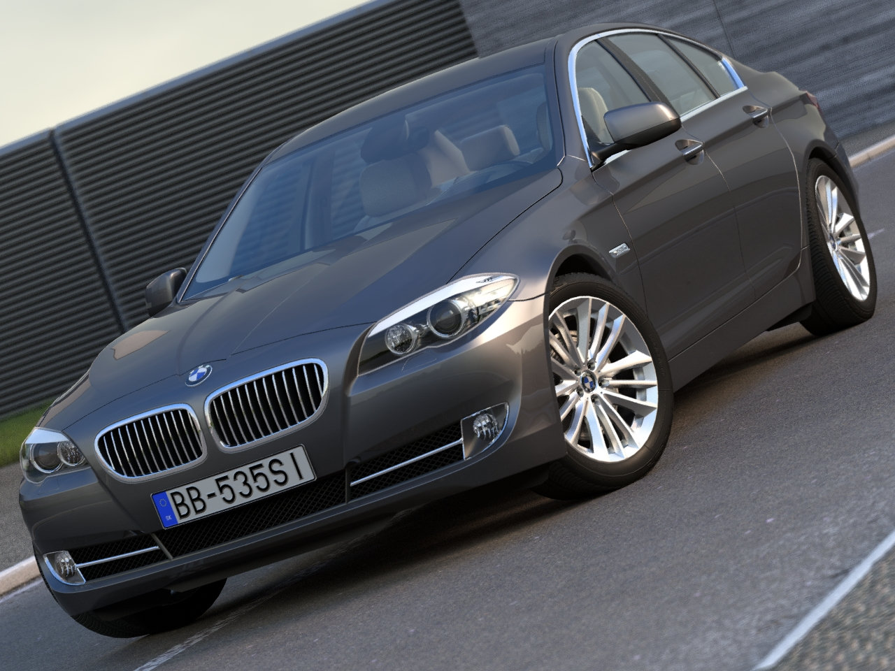 bmw 5 series (2010) 3d model 3ds max fbx c4d obj 104258