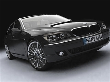 bmw 7-seriyası 2005 3d model 3ds lwo ma mb obj 85905