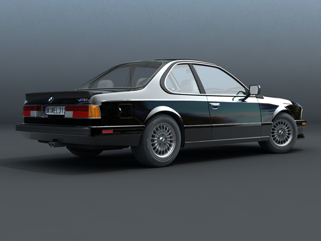 bmw m6 e24 3d model 3ds max fbx obj 124437