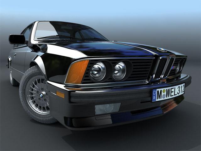 bmw m6 e24 3d model 3ds max fbx obj 124439