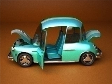 car cartoon-with interior 3d model max 86811