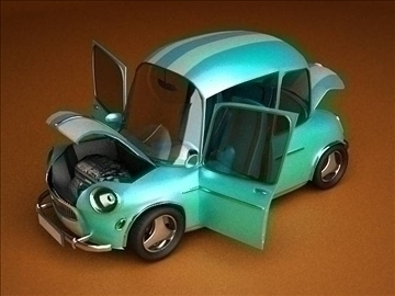 car cartoon-with interior 3d model max 86812