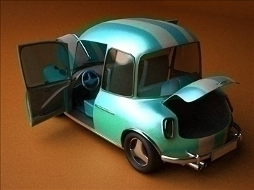 car cartoon-with interior 3d model max 86813