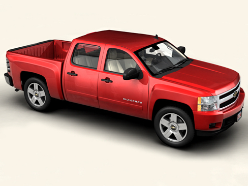 chevrolet silverado 2007 3d model 3ds max obj 114295