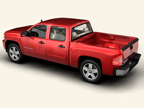 chevrolet silverado 2007 3d model 3ds max obj 114296