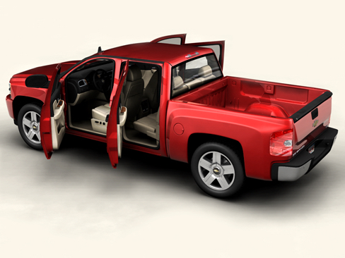 chevrolet silverado 2007 3d model 3ds max obj 114299