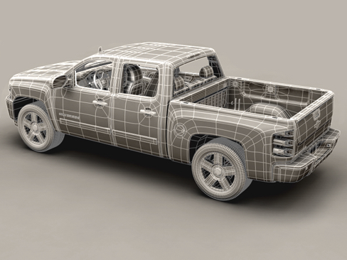 chevrolet silverado 2007 3d model 3ds max obj 114303