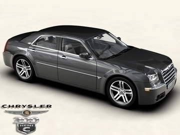 chrysler 300c 3d model 3ds max obj 81532