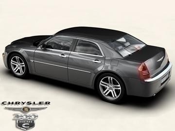 chrysler 300c 3d model 3ds max obj 81533