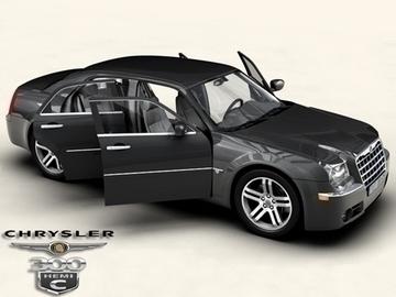 chrysler 300c 3d model 3ds max obj 81535