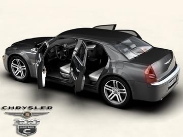 chrysler 300c 3d model 3ds max obj 81536