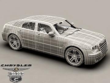 chrysler 300c 3d model 3ds max obj 81539