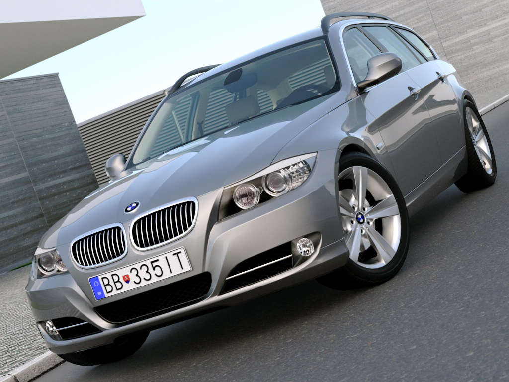 e91 3 series touring (2009) 3d model 3ds max fbx c4d obj 97907