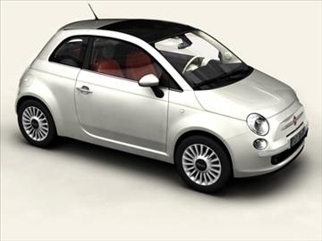 Fiat 500 2008 3d मॉडल 3ds अधिकतम obj 92304