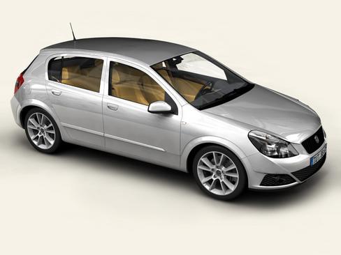 generic car compact class 3d model 3ds max obj 115879