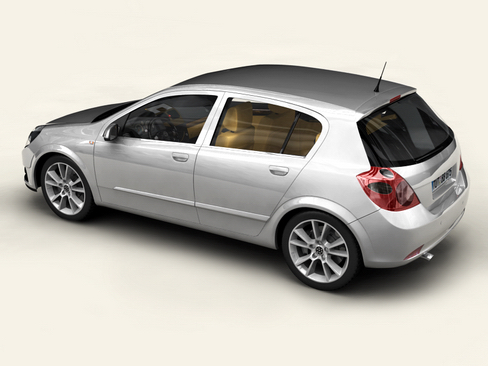 generic car compact class 3d model 3ds max obj 115880