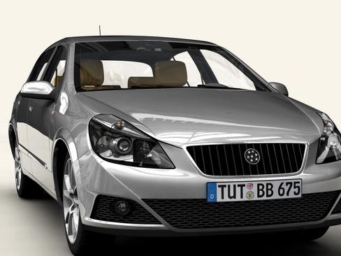 generic car compact class 3d model 3ds max obj 115882