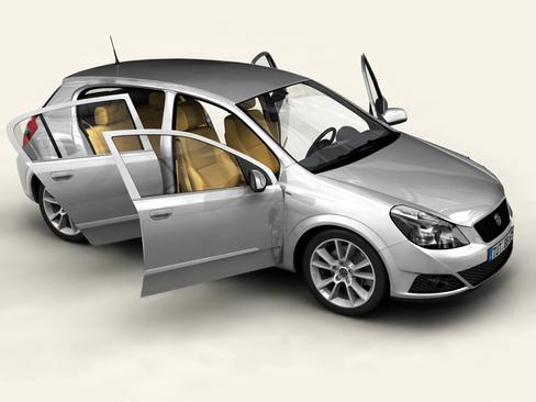 generic car compact class 3d model 3ds max obj 115883