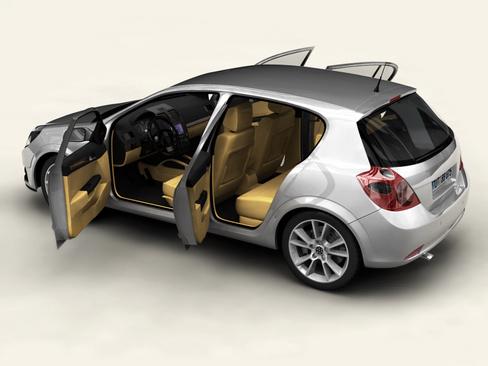 generic car compact class 3d model 3ds max obj 115884
