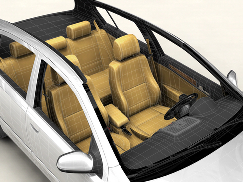 generic car compact class 3d model 3ds max obj 115885