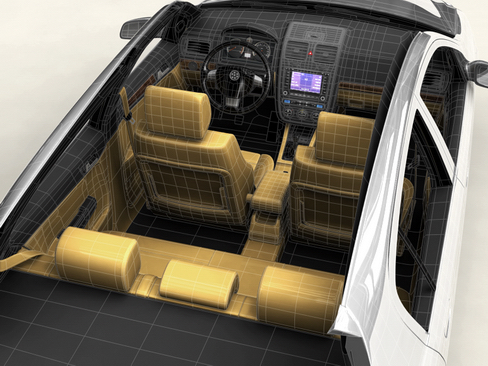 generic car compact class 3d model 3ds max obj 115886