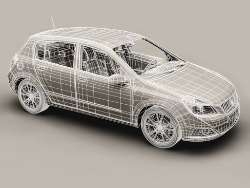 generic car compact class 3d model 3ds max obj 115887