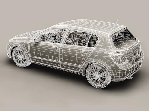 generic car compact class 3d model 3ds max obj 115888