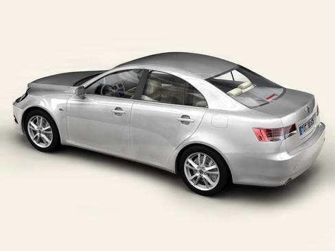 generic car middle class 3d model 3ds max obj 115890