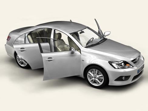 generic car middle class 3d model 3ds max obj 115893