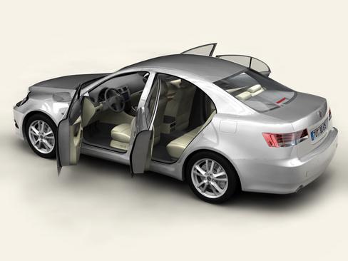 generic car middle class 3d model 3ds max obj 115894