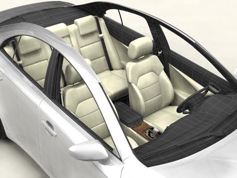 generic car middle class 3d model 3ds max obj 115895