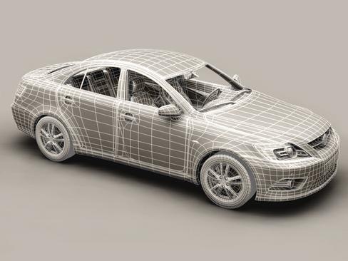 generic car middle class 3d model 3ds max obj 115897
