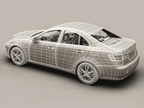 generic car middle class 3d model 3ds max obj 115898