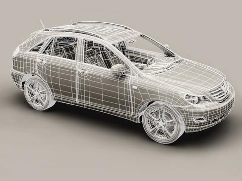 generic car suv 3d model 3ds max obj 115917