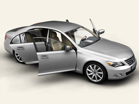 generic car upper class 3d model 3ds max obj 115923