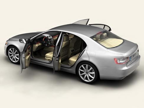 generic car upper class 3d model 3ds max obj 115924