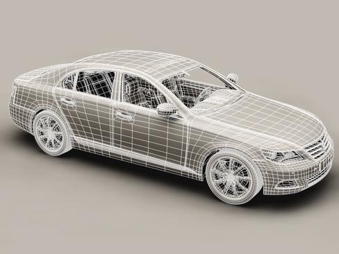 generic car upper class 3d model 3ds max obj 115927