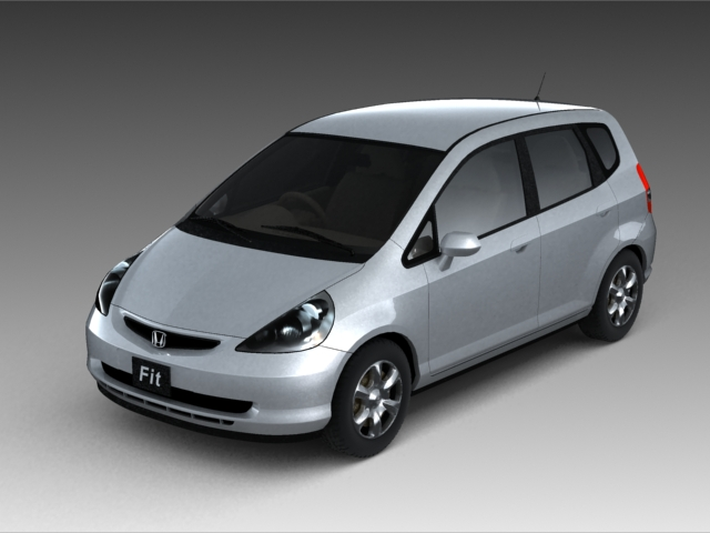 honda fit 3d model 3ds max fbx obj 124596