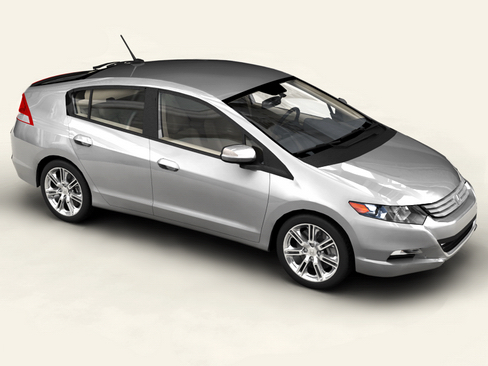 honda insight 2010 3d model 3ds max c4d lwo ma mb obj 116701