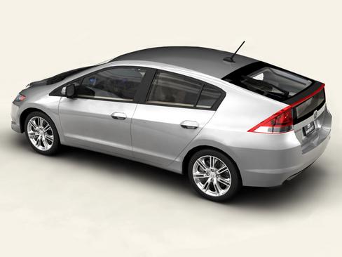 Honda Insight 2010 FlatPyramid 3d Model 3ds Max C4d Lwo Lws Lw Ma Mb Obj