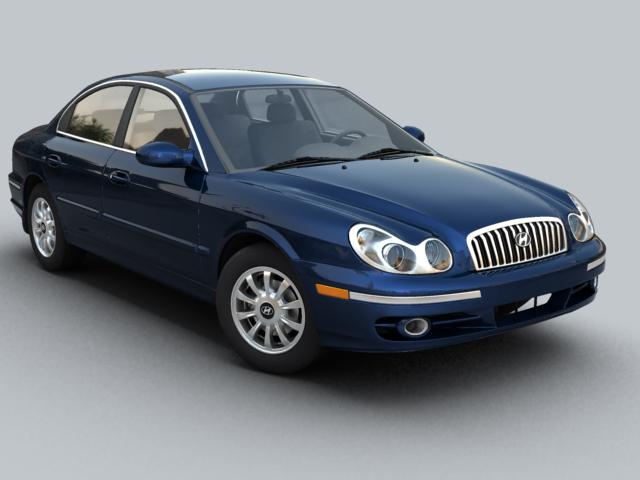 Hyundai sonata 3d modeli 3ds max fbx obj 124604