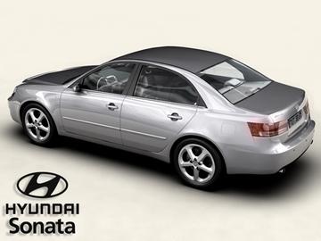 hyundai sonata 3d model 3ds max obj 81569