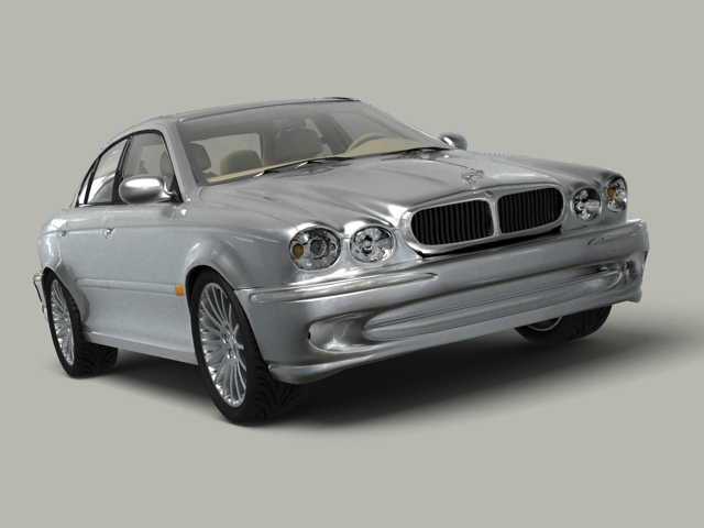 jaguar x type 3d model 3ds max obj 124877