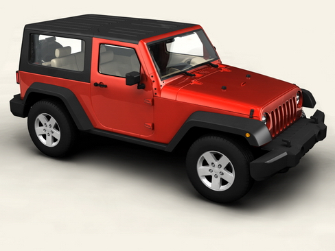 jeep wrangler 2007 3d model 3ds max obj 116927