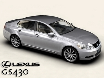 lexus gs300430 3d model 3ds max obj 81577