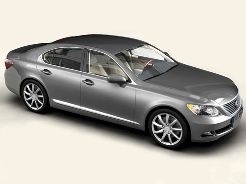 lexus ls 460 3d model 3ds max obj 118160